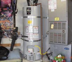 water heater installed near furnace