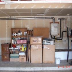 Garage tankless water heater installation