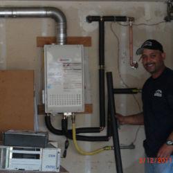 Proud tankless water heater installation