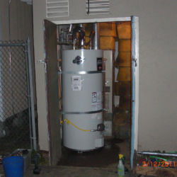 Large water heater installation