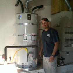 Clean water heater installation