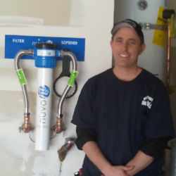 Water softener filtration system install