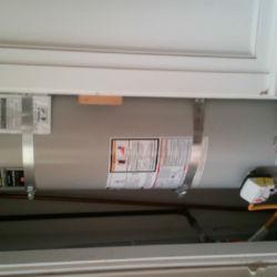 New water heater installation, indoors