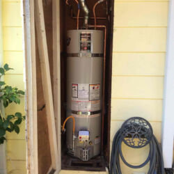 Outside Closet Water Heater Installation