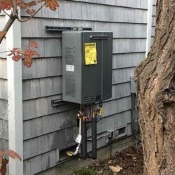 Rinnai Tankless Water Heater Installation Outside